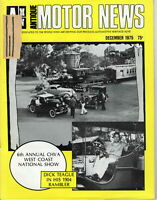6th ANNUAL CHVA WEST COAST NATIONAL SHOW - AMN Antique MOTOR NEWS Magazine