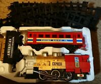 Vintage Union Express Train Set Battery Operated With Track & Figures
