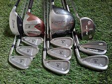 Mens TaylorMade 12pc Stiff Flex Golf Club Set - NO BAG / CLUBS ONLY D 3w 3h 4-Sw