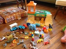 Vintage Fisher Price Little People zoo with extra animals