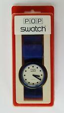 SWATCH: Pop Swatch, Blue Ribbon, BS101, 1987, neu, OVP