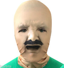 llorón Bebé Cara bigote 3d Efecto Piel Cara Lycra Máscara Segador Sombrío TERROR