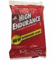 Old Spice Deodorant Soap 127g 4.5oz X2 Bars High Endurance Refreshing Duo