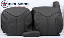 99-02 GMC Sierra SLT Z71 HD - Driver Side Complete Leather Seat Covers Dark Gray