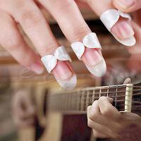 10Pcs Celluloid Guitar Thumb Picks Finger Plectrum Band Mix Color Liparite Set