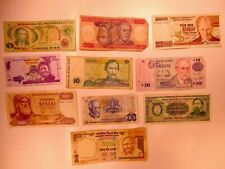 Assorted lot of 10 Foreign Banknotes World Paper Currency Mixed Cash Notes