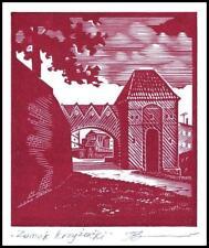 Leonenko Vasyl 1991 Exlibris X3 Project Architecture Toruń Teutonic Castle p15