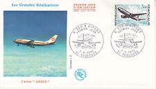 Enveloppe 1er jour FDC 1973 - L'Avion Airbus le A300B