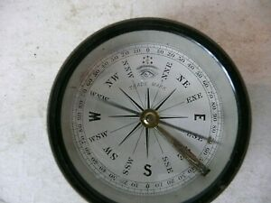 ANTIQUE A LL SEEING EYE COMPASS. HEAVY AND TOP DRAWER QUALITY, MILITARY MARINE ?