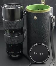 Soligor C/D 80-200mm F3.5 Manual Focus Zoom Lens - Minolta MD Mount - with case