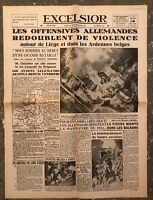 N167 La Une Du Journal Excelsior 14 Mai 1940