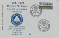 Logensiegel N 225 50 Jahre A.F.u.A.M.v.D. ZUR FREIMÜTIGKEIT AM RHEIN Frankenthal