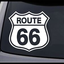 """American Highway Route Rt 66 Sign Vinyl Decal Sticker 16"""" x 15.6"""""""