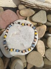 Stunning Frosted Glass Beads - Surf Necklace-Free P & P-UK
