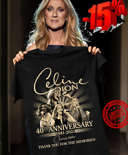 Celine Dion 40th Anniversary 1981 2021 Thank You For The Memories Shirt Sale