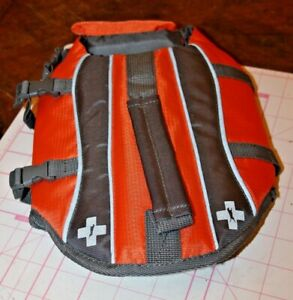 NWOT Dog's XS Orange Gray Full Wrap Water Life Jacket Vest