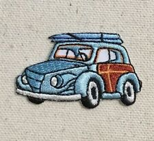 Blue Woodie/Woody - Surfboards/Surfing - Iron on Applique/Embroidered Patch