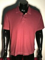 Robert Graham Mens XLarge Classic Fit Burgundy Short Sleeve Polo Shirt  Modal