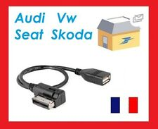 CABLE ADAPTATEUR USB MUSIC INTERFACE AMI MMI VOLKSWAGEN GOLF JETTA PASSAT TIGUAN