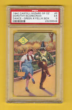 The Wizard of Oz 1940 Castell Card Dorothy & Scarecrow Judy Garland PSA 5 EX