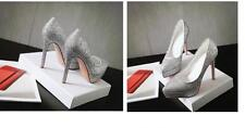 Stiletto Zapatos de Salón Elegantes Mujer Novia Perno Plataforma 12CM Plata