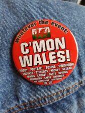 C'mon Wales - Large Button Badge - 58mm diameter