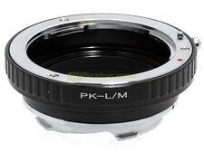 Anello adapter x montare ottiche Pentax K su corpi Leica M. Adattatore. ALM.