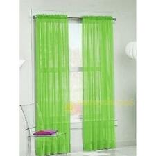 2Pc Sheer Voile Door Curtain Window Room Curtain Divider Scarf Panel Drape Solid