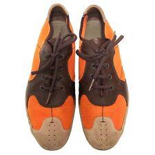 $595 PRADA Men's Orange Mesh / Leather Sneakers - 8 U.S.