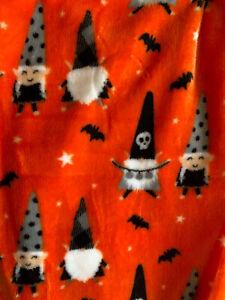 NWT Fall Gnome Party Halloween Orange Soft Plush Throw Blanket 50 x 60
