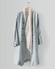Linen Classic Neckline Patternless Coats & Jackets for Women