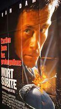 jc van damme MORT SUBITE  ! affiche cinema karate