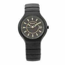Rado True activo de cerámica marcadores de dial negro de cuarzo Reloj para hombre R27677172 Luminoso
