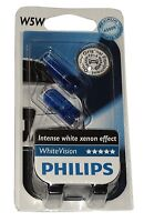 Philips 12961BVB2 lot de 2 ampoules W5W 12V 5W T10 White Vision effet Xénon