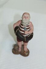 Sarahs Attic Resin Collectible Figurine Santa 1988 #A369 - Swimmer Bathing Suit