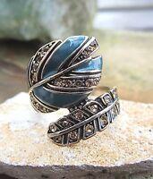 ethno indianer style ring aus messing mit emaille und steinchen 80er 19mm