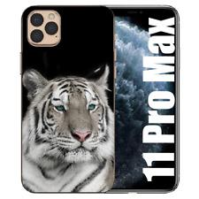 Schutzhülle Silikon TPU für iPhone 11 Pro Max Handy Case mit Fotodruck Tiger