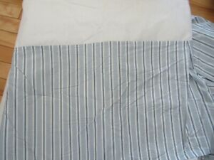 Lauren Ralph Lauren King Size Blues & White Stripes 15'' drop Platform Bed Skirt