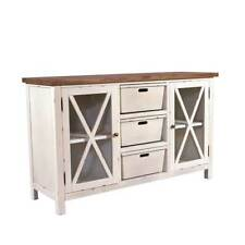 Sideboard Loire Holz Landhaus Stil Kommode Schrank creme weiß