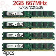Kingston 8GB 4x 2GB KVR667D2N5/2G PC2-5300U DDR2 667Mhz 1.8V Desktop Memory RAM