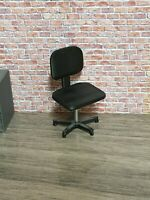 1:18 SCALE 3D PRINTED OFFICE SWIVEL CHAIRS x 2 FOR GARAGE DIORAMA (pair)