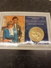 Commemorating the Marriage of Prince Charles and Lady Diana Spencer 1981 gold