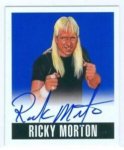 "RICKY MORTON ""BLUE AUTOGRAPH CARD #RM1 #23/25"" LEAF ORIGINALS WRESTLING 2014 NWA"