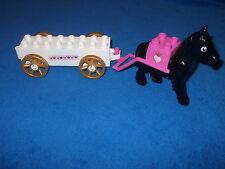 LEGO DUPLO SCHLOSS PRINZESSIN KUTSCHE + PFERD PINK ROSA WEISS HOCHZEITKUTSCHE