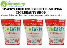 3 PACK'S - YumEarth, Organic Pops, Assorted Flavors, 50 Pops, 12.3 oz (348.7g)