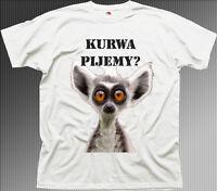 Polish Polska koszulka PIJEMY rude funny white cotton t-shirt 9962
