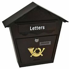Wall Mounted Outdoor Water Proof Post Box Letter Mailbox Lockable With 2 Keys
