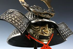 Massive Japanese Samurai Helmet -Great Dragon- with a mask Rare Tsushima