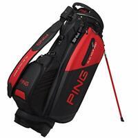 PING Golf Men's Stand Caddy Bag 9.5 x 47 inch 4.2kg Black Red CB-P192