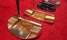 LIMITED GOLD HONMA GOLF JAPAN BERES PP-102 CNC MILLED MALLET PUTTER 2017 MODEL